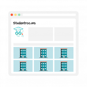 Illustration of the Studentrooms website